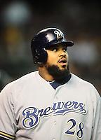 May 8, 2010; Phoenix, AZ, USA; Milwaukee Brewers first baseman Prince Fielder against the Arizona Diamondbacks at Chase Field. Mandatory Credit: Mark J. Rebilas-