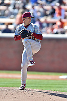 South Carolina Gamecocks pitcher Colie Bowers (40) delivers a pitch during a game against the Tennessee Volunteers at Lindsey Nelson Stadium on March 18, 2017 in Knoxville, Tennessee. The Gamecocks defeated Volunteers 6-5. (Tony Farlow/Four Seam Images)