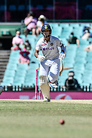 11th January 2021; Sydney Cricket Ground, Sydney, New South Wales, Australia; International Test Cricket, Third Test Day Five, Australia versus India; Cheteshwar Pujara of India runs between the wickets