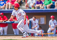 13 March 2016: Washington Nationals infielder Anthony Rendon singles in the first inning of a pre-season Spring Training game against the St. Louis Cardinals at Space Coast Stadium in Viera, Florida. The teams played to a 4-4 draw in Grapefruit League play. Mandatory Credit: Ed Wolfstein Photo *** RAW (NEF) Image File Available ***