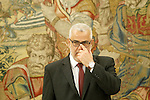 Head of the Government of the Kingdom of Morocco, Mr. Abdelilah Benkiran, during their attendance at the High Level Meeting XI Spanish-Moroccan (RAN). June 4,2015. (ALTERPHOTOS/Acero)