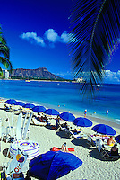 Diamond Head Crater and the inviting sands of legendary Waikiki Beach.