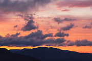 Sunrise from along the Kancamagus Highway (Route 112) in the White Mountains, New Hampshire. This highway is one of New England's scenic byways.