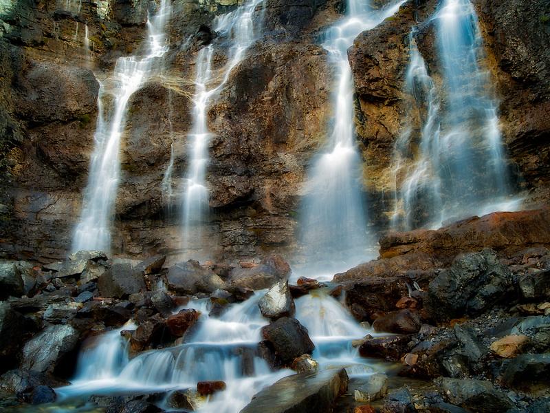 Tangle Falls. Jasper National Park, Alberta, Canada