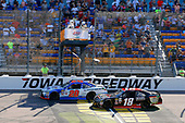NASCAR XFINITY Series<br /> U.S. Cellular 250<br /> Iowa Speedway, Newton, IA USA<br /> Saturday 29 July 2017<br /> Ryan Preece, MoHawk Northeast Inc. Toyota Camrydrives under the checkered flag to win<br /> World Copyright: Russell LaBounty<br /> LAT Images