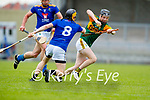 Colin Walsh, Kerry in action against Daniel Stanton, Wicklow in the Allianz National Hurling League Division 2A Round 4 at Austin Stack Park, Tralee on Saturday.