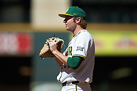 Baylor Bears first baseman Chase Wehsener (37) on defense against the Missouri Tigers in game one of the 2020 Shriners Hospitals for Children College Classic at Minute Maid Park on February 28, 2020 in Houston, Texas. The Bears defeated the Tigers 4-2. (Brian Westerholt/Four Seam Images)
