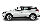 Car Driver side profile view of a 2019 Nissan Murano SL 5 Door SUV Side View
