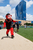Indianapolis Indians mascot Rowdie before an International League game against the Syracuse Mets on July 17, 2019 at Victory Field in Indianapolis, Indiana.  Syracuse defeated Indianapolis 15-5  (Mike Janes/Four Seam Images)