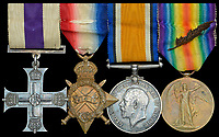 BNPS.co.uk (01202 558833)<br /> Pic: DNW/BNPS <br /> <br /> The bravery medals awarded to a heroic officer who excelled in battle before founding the pioneering Poppy Factory have emerged for sale.<br /> <br /> Major George Howson received the prestigious Military Cross for his gallantry at the Battle of Passchendaele in July 1917, carrying out his details despite receiving a nasty shrapnel wound.<br /> <br /> Four years after World War One ended, he set up the factory to offer jobs to wounded soldiers returning from the battlefield. To this day, the Poppy Factory, in Richmond, Surrey, produces 36 million poppies each year.<br /> <br /> Maj Howson, of B Company, 11th Battalion, also instituted the Field of Remembrance at Westminster Abbey in 1928.<br /> <br /> His medals are being sold with auction house Dix Noonan Webb, of London. They are expected to fetch £1,800.