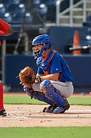 GCL Mets catcher Robby Kidwell (80) during the first game of a doubleheader against the GCL Nationals on July 22, 2017 at The Ballpark of the Palm Beaches in Palm Beach, Florida.  GCL Mets defeated the GCL Nationals 1-0 in a seven inning game that originally started on July 17th.  (Mike Janes/Four Seam Images)