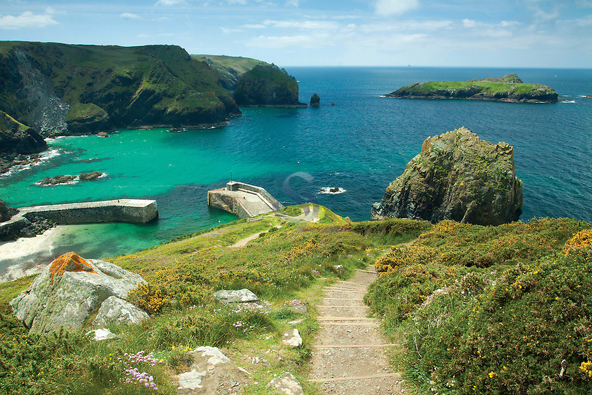 Mullion Cove near Mullion, on the Lizard Peninsula, Cornwall