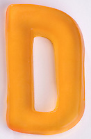 Orange Gummi Letter