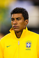 Paulinho (5) of Brazil. Brazil (BRA) and Colombia (COL) played to a 1-1 tie during international friendly at MetLife Stadium in East Rutherford, NJ, on November 14, 2012.