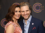 Stephanie J. Block and Sebastian Arcelus attends The 69th Annual Outer Cirtics Circle Awards Dinner at Sardi's on 5/23/2019 in New York City.
