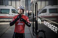 Fabio Felline (ITA/Trek-Segafredo) pre race <br /> <br /> 73th Omloop Het Nieuwsblad 2018<br /> Gent-Meerbeke (BEL) - 196km