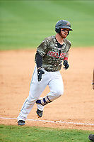 Arkansas Travelers designated hitter Tyler Marlette (30) rounds the bases after hitting a home run in the bottom of the sixth inning during a game against the Frisco RoughRiders on May 28, 2017 at Dickey-Stephens Park in Little Rock, Arkansas.  Arkansas defeated Frisco 17-3.  (Mike Janes/Four Seam Images)