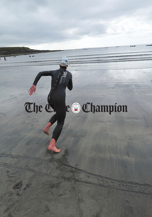 Amy - Mae Garvey from Donegal competing in the national trials for the Junior Surfing National Team at Whitestrand on Thursday. Photograph by Declan Monaghan