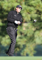 17th October 2020; Richmond, Virginia, USA;  Phil Mickelson watches his drive from the 2nd tee during the Dominion Energy Charity Classic on October 17, 2020, at The Country Club of Virginia James River Course in Richmond
