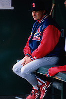 SAN FRANCISCO, CA:  Manager Tony La Russa of the St. Louis Cardinals sits in the dugout during a game against the San Francisco Giants at Candlestick Park in San Francisco, California in 1998. (Photo by Brad Mangin)