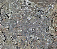 historical aerial photo map of Las Vegas, Nevada, 2010. For a current aerial photo map, please contact Aerial Archives.