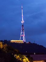 Mtatsminda Park mit Fernsehturm, Tiflis – Tbilissi, Georgien, Europa<br /> Mtatsminda Park with TV-Tower, Tbilisi, Georgia, Europe