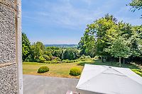 BNPS.co.uk (01202 558833)<br /> Pic: LeggettPrestige/BNPS<br /> <br /> PICTURED: The property boasts spectacular views<br /> <br /> A luxurious French chateau in a village liberated by the celebrated US general George Patton in World War Two has gone on the market for £1.35million.<br /> <br /> A stunning 19th century French chateau has emerged on the market for £1.35million - the same price as a terraced house in London.<br /> <br /> The Normandy property, located on the edge of the Bay of Mont Saint Michel, has 10 bedroom suites and is set in 14 hectares of manicured parkland.<br /> <br /> It also has equestrian facilities including 12 stables, as well as paddocks, a barn and a cottage.