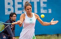 Amstelveen, Netherlands, 6 Juli, 2021, National Tennis Center, NTC, Amstelveen Womans Open, Womans doubles:  Valentini Grammattikopoulou (GRE)<br /> Photo: Henk Koster/tennisimages.com