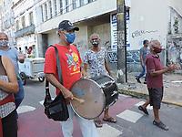 09/07/2021 - MUSICOS PROTESTAM EM RECIFE