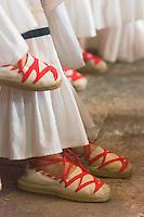 France, Aquitaine, Pyrénées-Atlantiques, Pays Basque,  pendant la fête du piment d'Espelette, messe à l'église Saint-Etienne //  France, Pyrenees Atlantiques, Basque Country, Espelette:   during Espelette pepper festival , Mass at the church