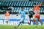 Jiangsu FC Forward Roger Beyker Martinez (L) fights for the ball with Jeju United FC Defender Oh Bansuk (R) during the AFC Champions League 2017 Group H match between Jeju United FC (KOR) vs Jiangsu FC (CHN) at the Jeju World Cup Stadium on 22 February 2017 in Jeju, South Korea. Photo by Marcio Rodrigo Machado / Power Sport Images