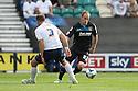David Gray of Stevenage beats Scott Laird of Preston<br />  - Preston North End v Stevenage - Sky Bet League One - Deepdale, Preston - 14th September 2013. <br /> © Kevin Coleman 2013