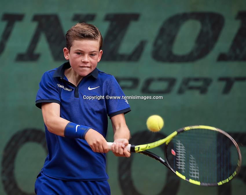Hilversum, Netherlands, August 13, 2016, National Junior Championships, NJK, Daniel Verbeek  (NED)<br /> Photo: Tennisimages/Henk Koster