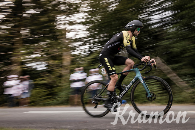Luka Mezgec (SVN/Mitchelton Scott) on the steep parts of the individual time trial up the infamous Planche des Belles Filles<br /> <br /> Stage 20 (ITT) from Lure to La Planche des Belles Filles (36.2km)<br /> <br /> 107th Tour de France 2020 (2.UWT)<br /> (the 'postponed edition' held in september)<br /> <br /> ©kramon