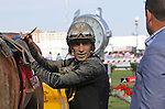 May 15, 2015: John Velazquez unsaddles Danessa Deluxe after their 4th-place finish in the Black-Eyed Susan Stakes at Pimlico Race Course in Baltimore, MD. Joan Fairman Kanes/ESW/CSM