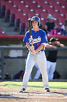 Will Smith (25) of the Rancho Cucamonga Quakes bats against the High Desert Mavericks at Heritage Field on August 7, 2016 in Adelanto, California. Rancho Cucamonga defeated High Desert, 10-9. (Larry Goren/Four Seam Images)