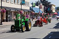 Green Tractor, Auburn Days Parade 2016, Auburn, WA, USA.