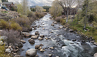 The river flows from Lake Tahoe, 15 miles away, through the town of Truckee, then eastward into Nevada.