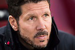 Coach Diego Simeone of Atletico de Madrid looks on prior to the La Liga match between Atletico de Madrid and Deportivo Leganes at the Vicente Calderón Stadium on 04 February 2017 in Madrid, Spain. Photo by Diego Gonzalez Souto / Power Sport Images