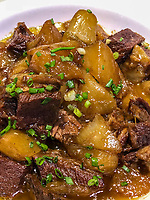 Yangzhou, Jiangsu, China.  Turnips with beef.