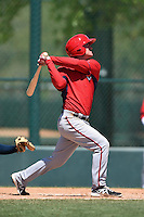 Washington Nationals second baseman Cody Dent (2) during a minor league spring training game against the Atlanta Braves on March 26, 2014 at Wide World of Sports in Orlando, Florida.  (Mike Janes/Four Seam Images)