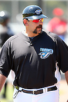 April 1, 2010:  Manager Sal Fasano of the Toronto Blue Jays organization during Spring Training at the Carpenter Complex in Clearwater, FL.  Photo By Mike Janes/Four Seam Images