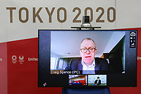 17th February 2021, Tokyo, Japan;  Craig Spence, Chief Brand and Communications Officer of IPC, speaks remotely during the International Olympic Committee IOC, the International Paralympic Committee IPC and the Tokyo Organising Committee of the Olympic & Paralympic Games Tokyo 2020 joint press briefing in Tokyo, Japan, on Feb. 17, 2021. Tokyo 2020, IOC and IPC hosted a joint working meeting via teleconference focusing on COVID-19 countermeasures 15-17, Feb.