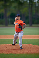 Houston Astros Ralph Garza (22) during a minor league Spring Training game against the Detroit Tigers on March 30, 2016 at Tigertown in Lakeland, Florida.  (Mike Janes/Four Seam Images)