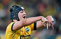30th April 2021; Wellington, New Zealand;  Hurricanes Brayden Iose celebrates his try.  Hurricanes versus  Highlanders, Super Rugby, Sky Stadium, Wellington New Zealand, Friday 30 April 2021.