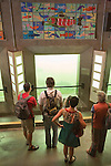 Visitors watch salmon in the fish ladder at the Chittenden Locks and adjacent Carl English Gardens are major draws for tourists, locals, and the botting community.  Yachts enter and leave fresh water Lake Union for the salt of Puget Sound.