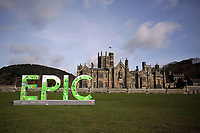 EPIC sign at in front of the castle at Margam Park near Port Talbot, Wales, UK. Tuesday 11 April 2017