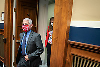 Anthony Fauci, director of the National Institute of Allergy and Infectious Diseases, wears his Washington Nationals face mask as he returns from a break from the House Energy and Commerce Committee hearing in Washington, D.C., U.S., on Tuesday, June 23, 2020. Trump administration health officials will tell lawmakers that their agencies are preparing for a flu season that will be complicated by the coronavirus pandemic. <br /> Credit: Sarah Silbiger / Pool via CNP/AdMedia