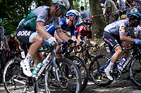 defending Tour-champion Geraint Thomas (GBR/Ineos) up the infamous Muur van Geraardsbergen<br /> <br /> Stage 1: Brussels to Brussels(BEL/192km) 106th Tour de France 2019 (2.UWT)<br /> <br /> ©kramon