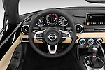 Car pictures of steering wheel view of a 2017 Mazda MX-5 Miata Grand Touring 2 Door Convertible Steering Wheel